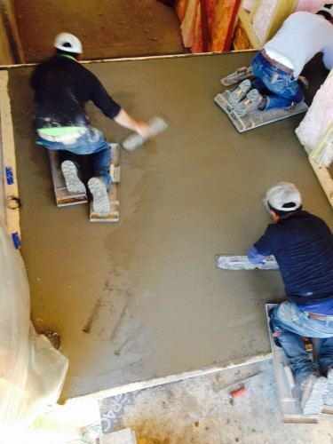 Finishing-a-floor---action